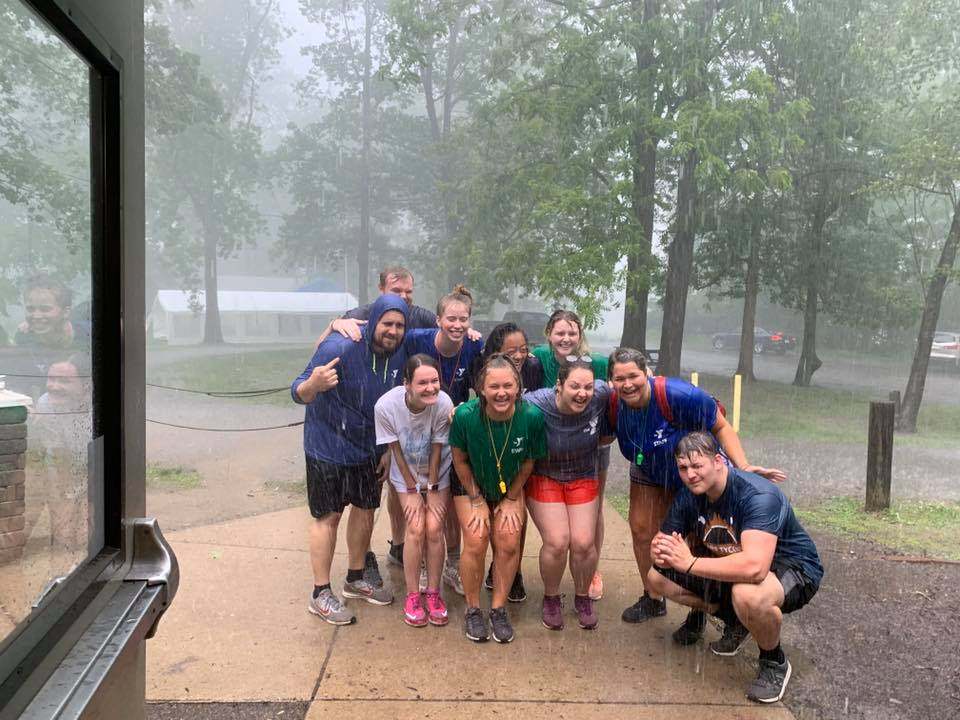 Rain or Shine- Our Camp Counselors are always ready to have a great day at camp!